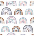 seamless pattern with pastel rainbows vector image vector image