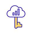 secure cloud service rgb color icon vector image