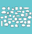 set comic stickers of comic speech bubbles vector image vector image