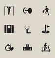 set of 9 editable healthy icons includes symbols vector image vector image