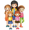 set of female character vector image vector image