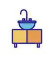 sink icon isolated contour symbol