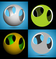 smoothed 3d sphere with openings vector image vector image