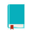 stylized closed book vector image vector image