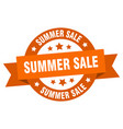 summer sale ribbon summer sale round orange sign vector image vector image