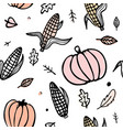 thanksgiving day seamless pattern with corn cobs vector image vector image