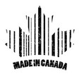 the stamp is made in canada vector image vector image