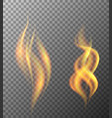 two pattern of flames on gray background vector image