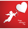 valentines day background with cupid vector image