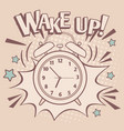 vintage alarm wake up poster vector image
