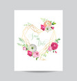 Wedding invitation floral template save date