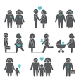 Women and men icons set vector image vector image