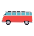 Retro Travel Red Van vector image