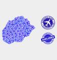 aerial composition alegranza island map and vector image vector image