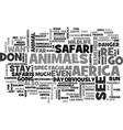 african safaris boast spectacular wildlife text vector image vector image