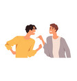 angry men arguing and conflicting quarrel