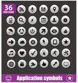 application symbols big set silver color vector image vector image