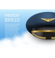 Aviator Peaked cap of the pilot vector image vector image