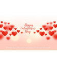 beautiful hearts background with bokeh effect vector image vector image