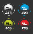 big sale banners set vector image vector image