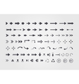 big set different arrows isolated on white vector image vector image