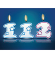Birthday candle number 112 vector image vector image