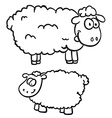 black and white two sheep vector image vector image