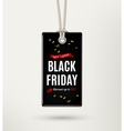 Black friday sale tag label vector image
