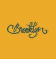 brooklyn new york usa label sign logo hand dra vector image vector image