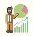 businessman showing presentation cartoon vector image
