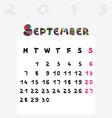 calendar 2015 september vector image vector image