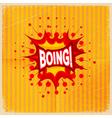 Cartoon blast BOING vector image vector image