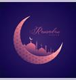 creative ramadan kareem islamic background vector image vector image
