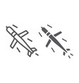 cruise missile line and glyph icon army and force vector image vector image