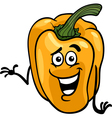 cute yellow pepper cartoon vector image