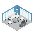 dining room isometric composition vector image vector image