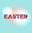 easter concept colorful word art vector image vector image