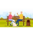 elderly couple in park vector image