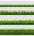 green grass borders set isolated transparent vector image vector image