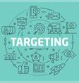 green line flat circle targeting vector image vector image