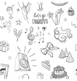 hand-drawn party icon pattern vector image