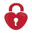 heart shaped lockpad vector image