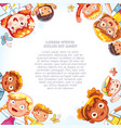 international day of friends background vector image vector image