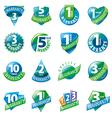 large set of logos guarantees vector image vector image