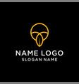 letter l leaf logo vector image vector image
