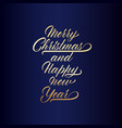 lettering merry christmas and happy new year vector image vector image