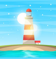 Lighthouse sea - cartoon landscape