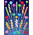 lollipops set vector image vector image