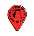 map pin with gas station application sign icon vector image