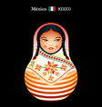 Matryoshka Mexico vector image